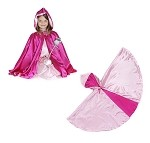 Hooded Princess Cape Reversible Light/Hot Pink