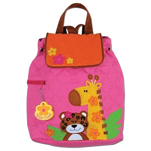 Quilted Backpack Girl Zoo