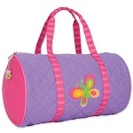 Quilted Duffle Bag Butterfly