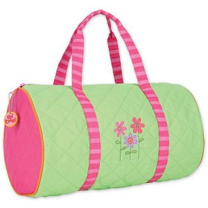 Quilted Duffle Bag Flower