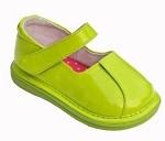 Patent Clip Mary Jane Girl Shoe Green